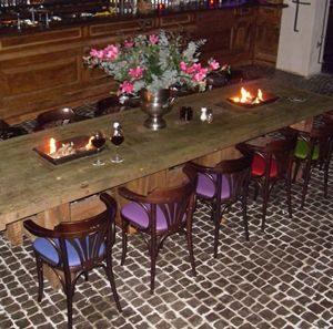 Vuurtafel- firetable- feuertisch – inbouwhaard, , table de feu avec cheminée