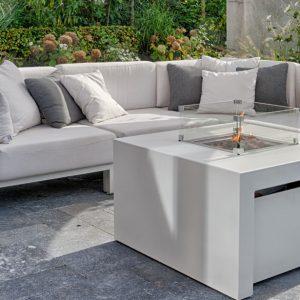Aluminium Vuurtafel, Feuertisch von Aluminium, Fire pit table